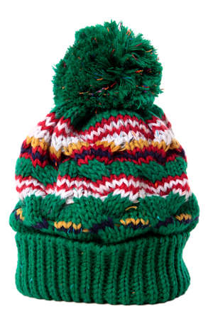 bobble: Bobble hat isolated against a white background