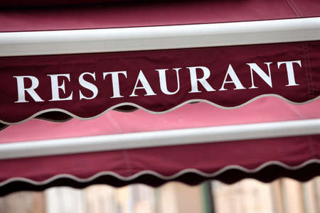 canopy: Restaurant entrance canopy in Paris.
