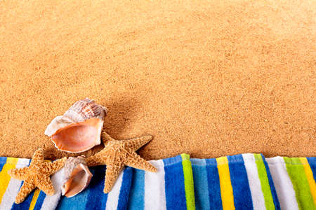 Summer beach border background Stock Photo