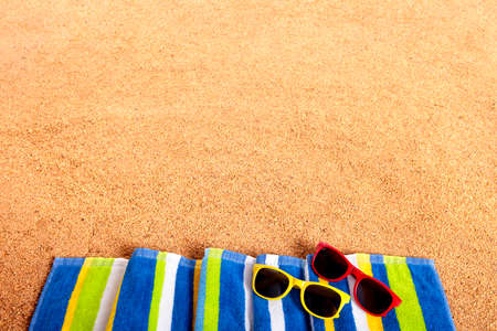 Summer beach border background Standard-Bild