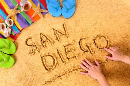 San Diego strand Stockfoto