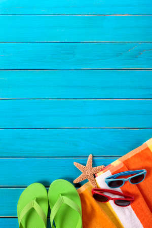 Summer beach background, copy space