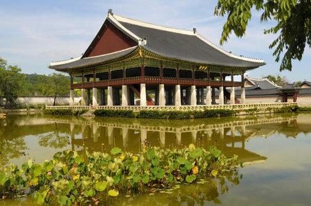 pavillion: Main Pavillion at Gyeongbok Palace in Seoul, South Korea Editorial