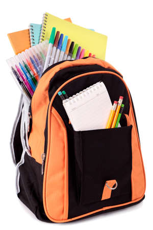 supply: School bag with student supplies