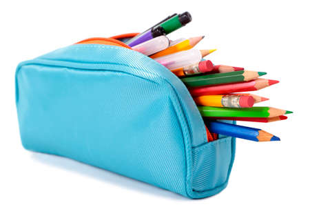 pencil case: Blue pencil case