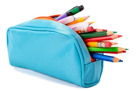 Crayon bleu cas