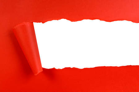 Torn red background paper