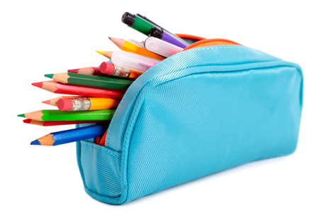Blue pencil case