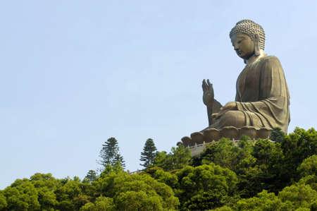 buddha statue: Big Buddha at Po Lin monastery, Lantau Island, Hong Kong.