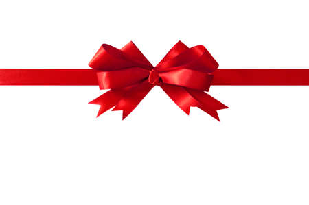 Red bow straight horizontal