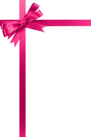 Roze cadeau lint verticale