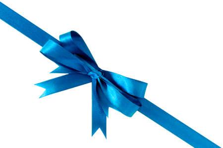 diagonal: Light blue gift ribbon bow corner diagonal