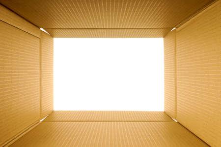 boite carton: Boîte en carton vue de cadre à l'intérieur, l'espace de copie