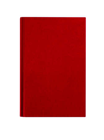 maroon: Maroon red hardcover book front cover upright vertical isolated on white