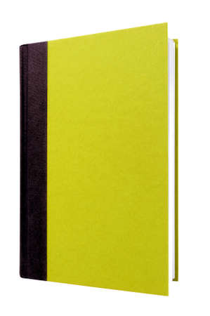 hardcover: Light green hardcover book front cover upright vertical isolated on white