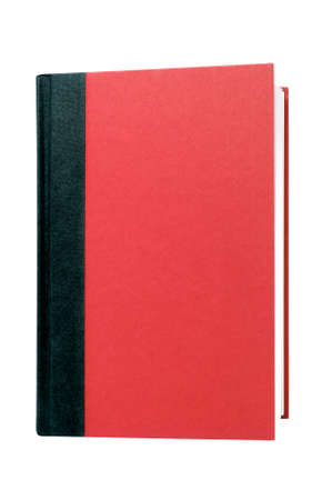 hardcovers: Red hardcover book front cover upright vertical isolated on white