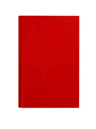 hardcover: Red hardcover book front cover upright vertical isolated on white
