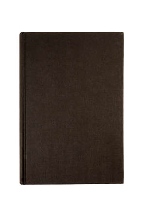 Black Plain Hardcover Book Or Bible Front Cover Upright Vertical Isolated On White Stock Photo