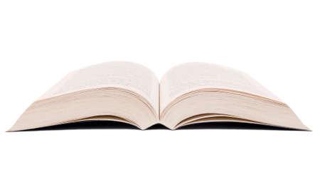 Open boek geïsoleerd op een witte achtergrond.