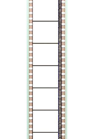 35mm movie film strip with soundtrack and blank frames
