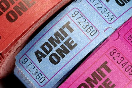 Rolls von Eintrittskarten.