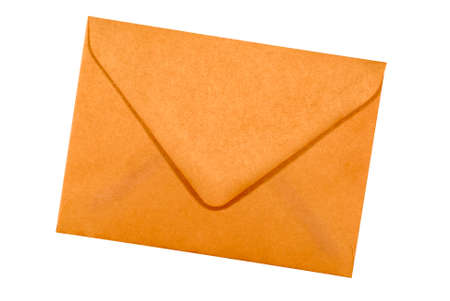letter envelopes: Manila brown paper envelope isolated on white background Stock Photo