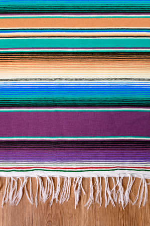 serape: Mexico cinco de mayo traditional mexican serape rug or blanket background Stock Photo
