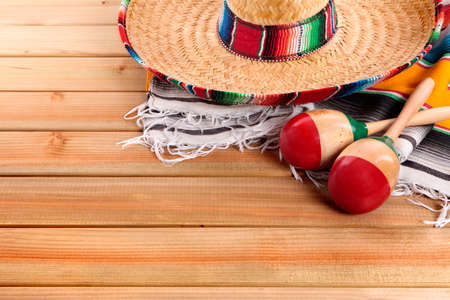 mayo: Mexico cinco de mayo mexican sombrero fiesta background Stock Photo