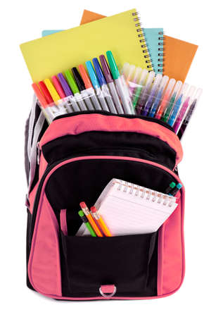 School tas met student leveringen