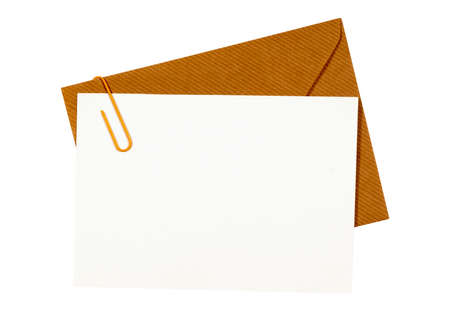 note card: Brown manila envelope with blank note card