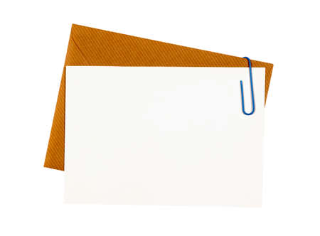 blank note: Brown manila envelope with blank note card