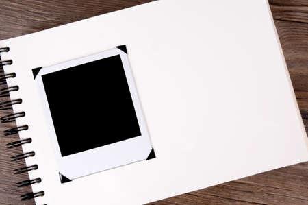 Photo album with blank style instant photo print 版權商用圖片
