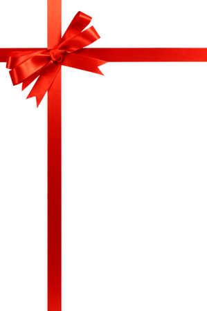 빨간 활 크리스마스 선물 리본 세로 스톡 콘텐츠 - 65112616