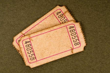 admit one: Old blank tickets