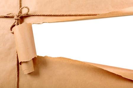 Gescheurd papier-pakket Stockfoto
