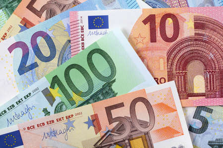 Various euros background
