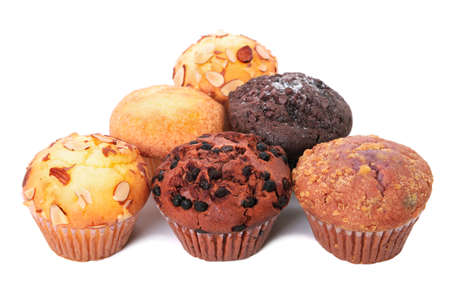 Several muffin cup cakes