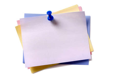 Several sticky post notes different colors