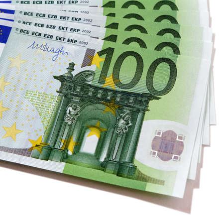 Euro 100 currency bills