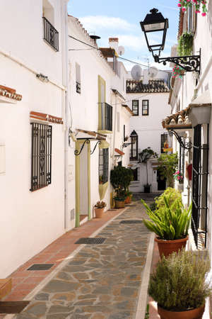 Typical Andalucia Spain old village whitewashed houses Stock Photo