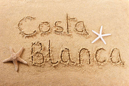 Costa Blanca Spain beach word travel writing concept