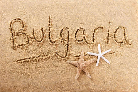 Bulgaria beach word travel writing concept