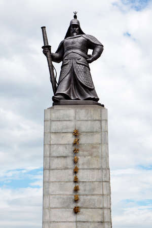 Seoul, South Korea, tall statue of General Yi Sun-Shin