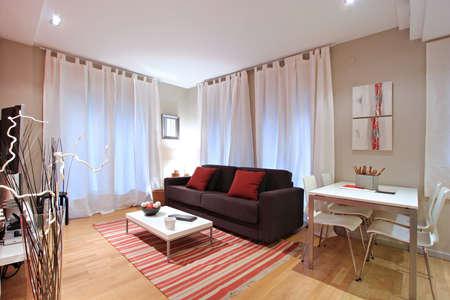 Ramblas-Boqueria Apartment - Salon-diner1 Stock Photo - 16619411
