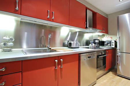 Ramblas-Boqueria Apartment - Kitchen1 Stock Photo