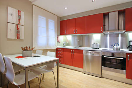 Ramblas-Boqueria Apartment - Kitchen diner Stock Photo
