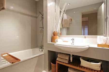 Ramblas-Boqueria Apartment - Bathroom1 Stock Photo