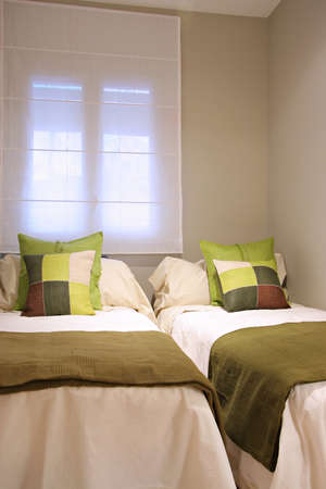 Ramblas-Boqueria Apartment - Double bedroom2 Stock Photo
