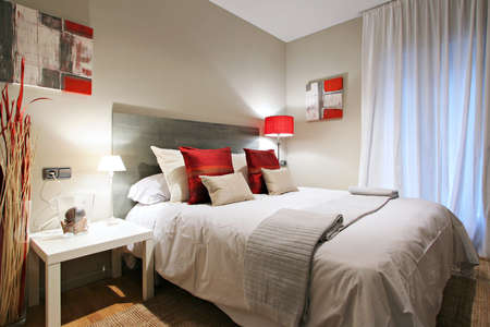 Ramblas-Boqueria Apartment - Bedroom 1 Stock Photo