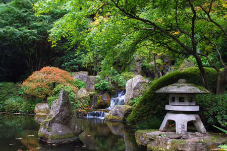 Tranquility Pond with Waterfall at Portland Japanese Garden